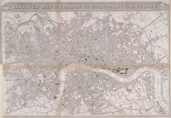 Improved map of London for 1834, from actual survey